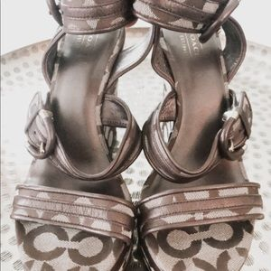 Coach wedge platform sandal